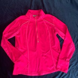 Athleta Zip up jacket Pink large